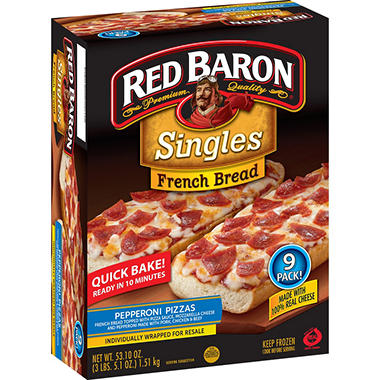 Red Baron French Bread Pepperoni Pizza (9 ct.)