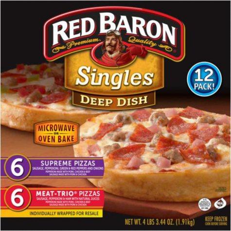 Red Baron Deep Dish Single Pizzas - 12 pk.