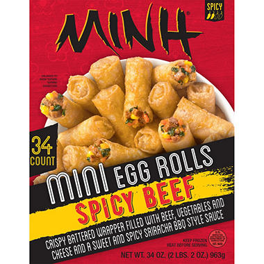 Minh Mini Egg Rolls, Spicy Beef (34 ct.)