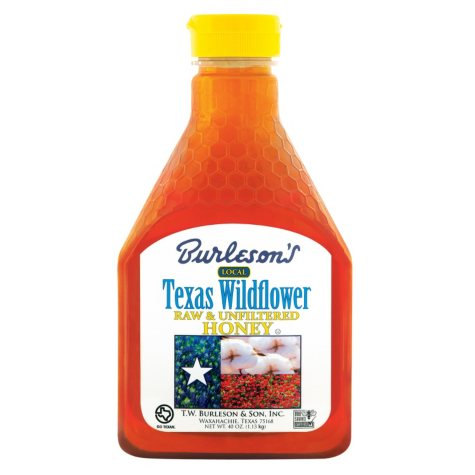 Burleson's Texas Wildflower Raw and Unfiltered Honey (40 oz.)