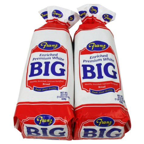 Franz Big White Bread (22.5 oz., 2 pk.)