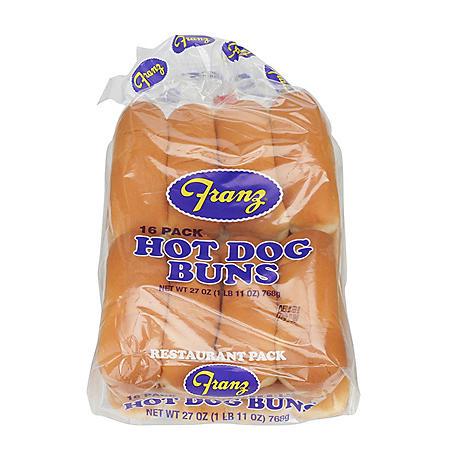 Franz Hot Dog Buns (16 ct., 24 oz.)