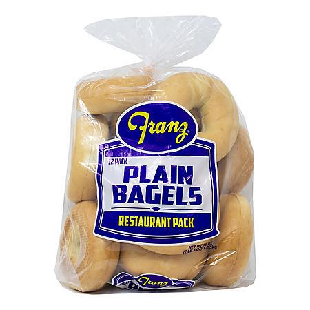 Franz Bakery Restaurant Pack Plain Bagles (36 oz.)