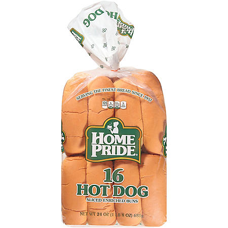 Home Pride Hot Dog Buns (16pk)