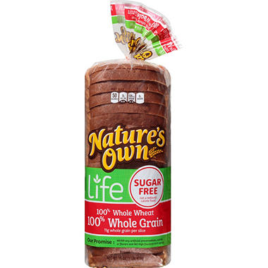 Nature's Own Sugar-Free 100% Wheat Bread (16 oz., 2 pk.)