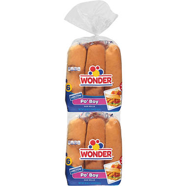 Cobblestone Po Boy Buns (40 oz., 12 ct.)