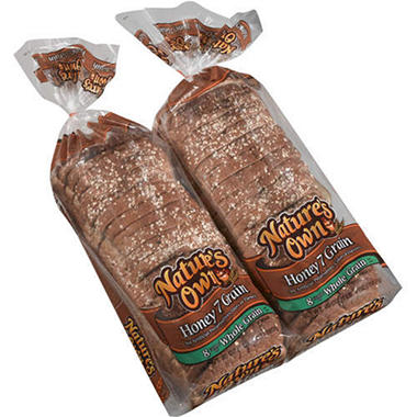 Nature's Own Honey 7 Grain Bread (20 oz., 2 pk.)