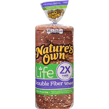 Nature's Own Double Fiber Wheat Bread (20 oz., 2 pk.)