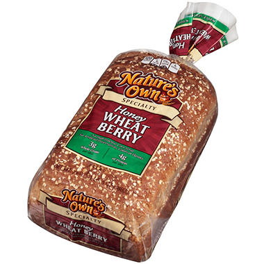 Nature's Own Honey Wheat Berry Bread (48 oz., 2 pk.)