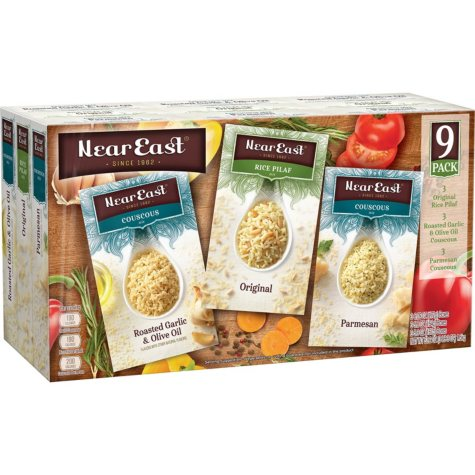 Near East Couscous and Rice Pilaf Variety Pack (3 lb. 3 oz., 9 pk.)