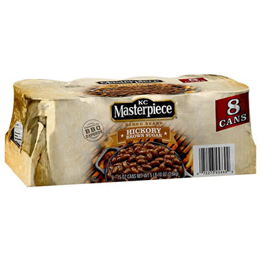 KC Masterpiece Baked Beans - 15 oz. cans - 6 pk.