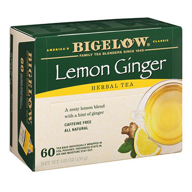 Bigelow Lemon Ginger Herbal Tea (60 ct.)