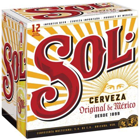 Sol Mexican Lager Beer (11.2 fl. oz. bottle, 12 pk.)