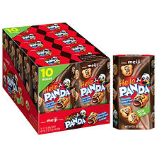 Meiji Hello Panda Chocolate Cream Biscuits (2.1 oz. box, 10 pk.)