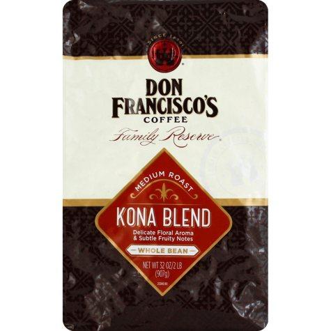 Don Francisco's Whole Bean Kona Blend Coffee (32 oz.)