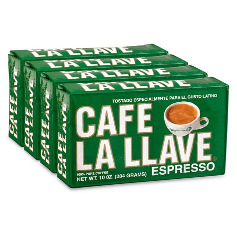 Cafe La Llave Ground Espresso (10 oz. bricks, 4 ct.)