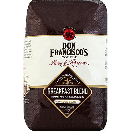 Don Francisco's Breakfast Blend Whole Bean Coffee - 32 oz.