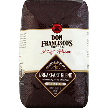 Don Francisco's Breakfast Blend Whole Bean Coffee - 32 oz.
