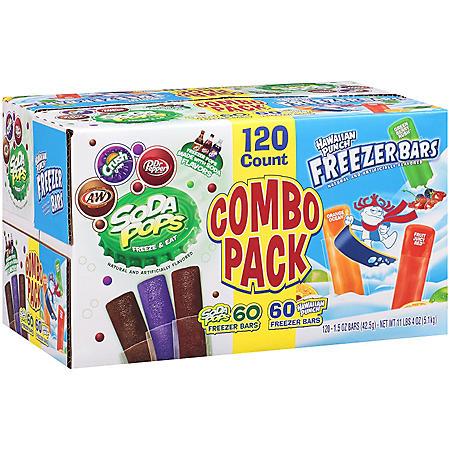 Hawaiian Punch Soda Pops Freezer Bars Combo Pack - 120/1.5 oz.