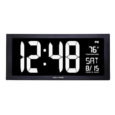 AcuRite Large Digital Clock with Date & Temperature