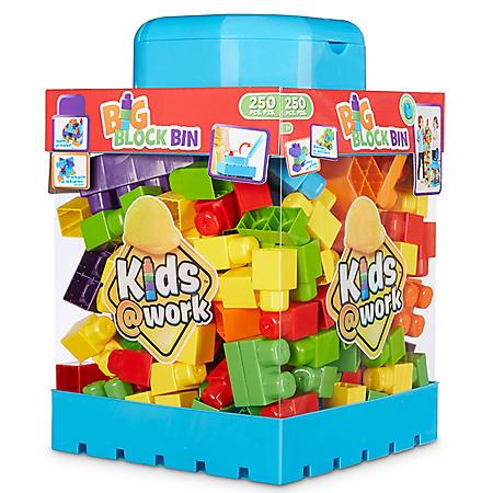 Kids @ Work 250-Piece Block Bin