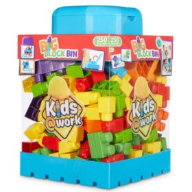 Kids @ Work 250-Piece Block Bin