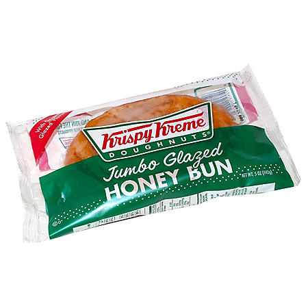 Krispy Kreme Jumbo Glazed Honey Bun (45 oz., 9 ct.)