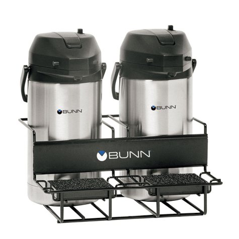 BUNN® Universal Coffee Airpot Rack for Two Airpots (Side/Side)