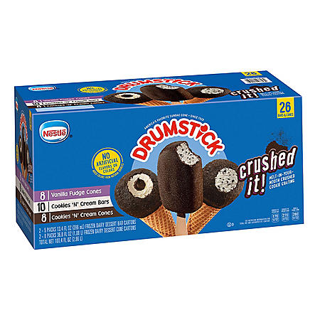 Drumstick Crushed It Variety Pack, Frozen (26 ct.)