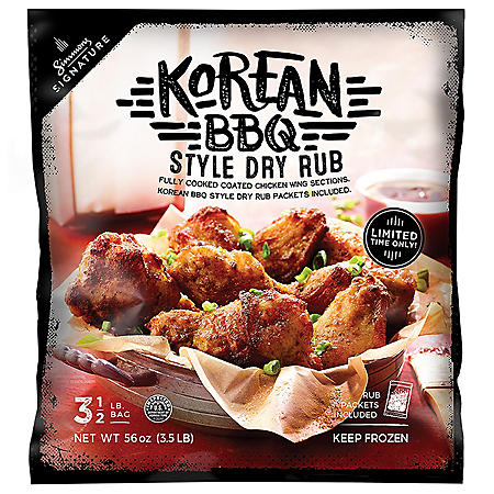 Simmons Signature Korean BBQ Dry Rub Wings (3.5 lb.)