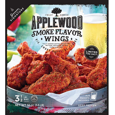 Simmons Signature Applewood Dry Rub Wings (3.5 lb.)