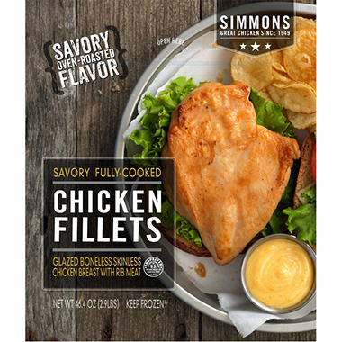 Simmons Savory Chicken Fillets - 2.9 lbs.