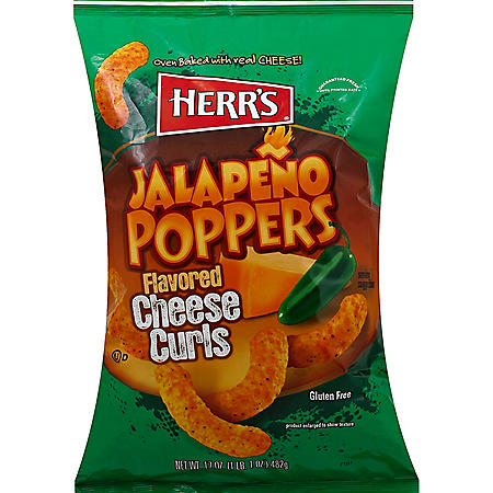 Herr's Jalapeno Poppers Flavored Cheese Curls - 17 oz.