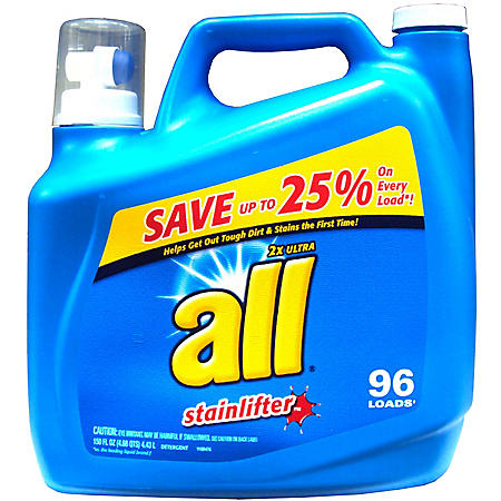 all Stainlifter Original Liquid Detergent -  150 oz. - 100 loads