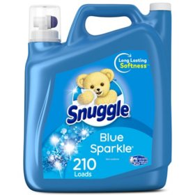 Snuggle Blue Sparkle Fabric Softener (168 oz., 210 loads)