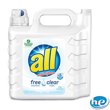 all 2X Ultra with Stainlifter Free & Clear (146 loads, 225 oz.)