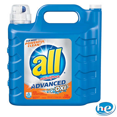 all Advanced OXI Liquid Detergent with Stainlifters (126 loads, 225 oz.)
