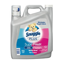 Snuggle Plus Fabric Conditioner, Spring Burst Scent (155 Loads, 164oz.)