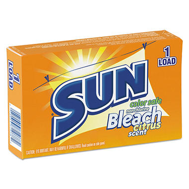 SUN Color Safe Powder Bleach, Vend Pack, 1-Load Box (100 ct.)
