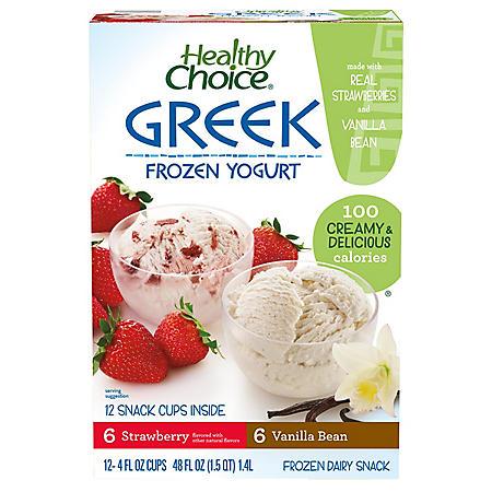 Healthy Choice Frozen Greek Yogurt  (4 oz. cups, 12 ct.)