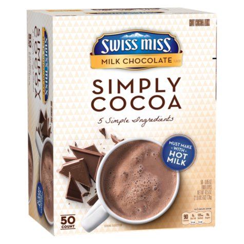 Swiss Miss Simply Cocoa, Milk Chocolate (50 ct.)
