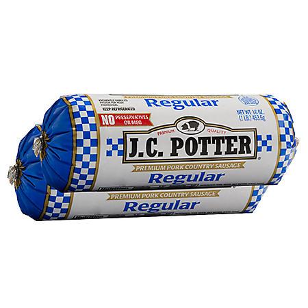 J.C. Potter Premium Pork Country Sausage Roll (2 lb.)