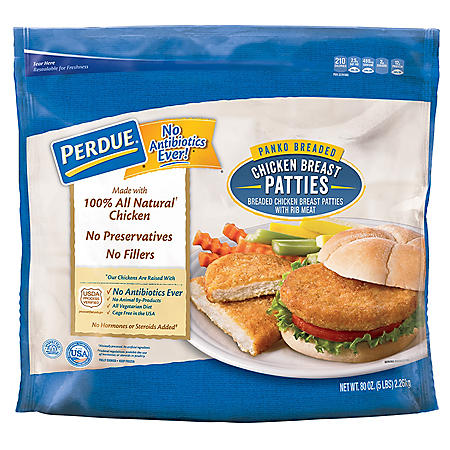Perdue Panko Breaded Chicken Breast Patties (5 lbs.)