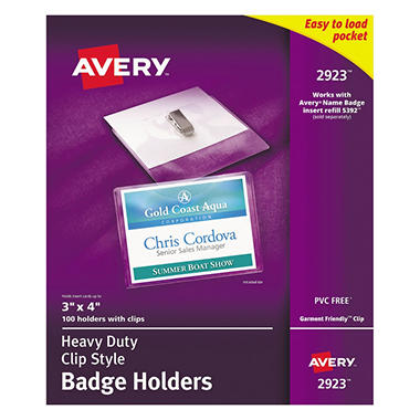 Avery Flexible Badge Holders