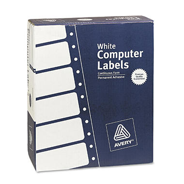 Avery Pin Fed Mailing Labels