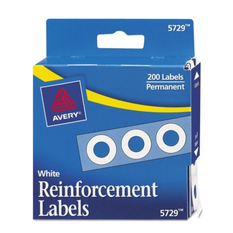Avery Hole Punch Reinforcement Labels, Choose a Color, 200ct.