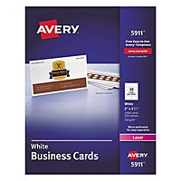 avery 8471 perforated business cards inkjet white 1 000