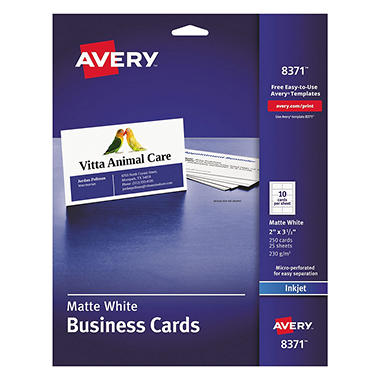 Avery two side printable business cards inkjet 2 x 3 12 white avery two side printable business cards inkjet 2 x 3 1 colourmoves Image collections