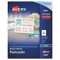 avery 8471 perforated business cards inkjet white 1 000 cards