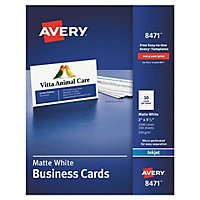 avery 5371 perforated business cards laser white 250 cards